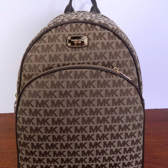 2f0a8c422df7 MICHAEL KORS ABBEY BROWN LARGE BACKPACK Java